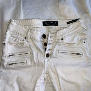 Bullhead low-rise (skinniest) denim jeans (cream)